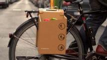 Panier en carton Packtasche pour vélo urbain