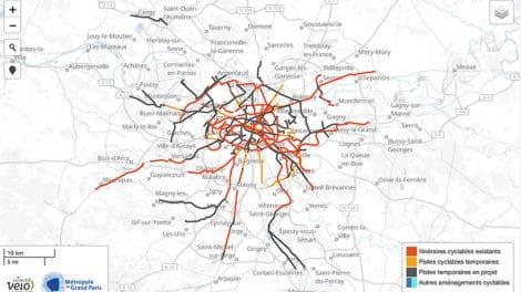 Pistes cyclables du Grand Paris