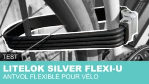 Litelok Flexi-U Silver antivol vélo en U