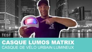 Lumix Matrix, casque de vélo lumineux
