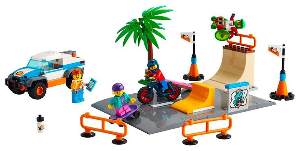 Le skate park et bmx lego