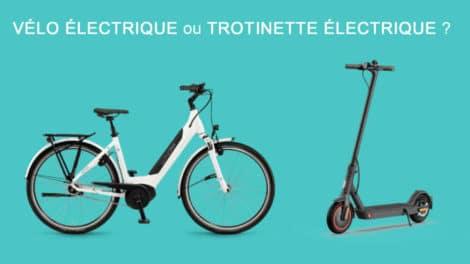 Vélo électrique ou trotinette, comment choisir ?